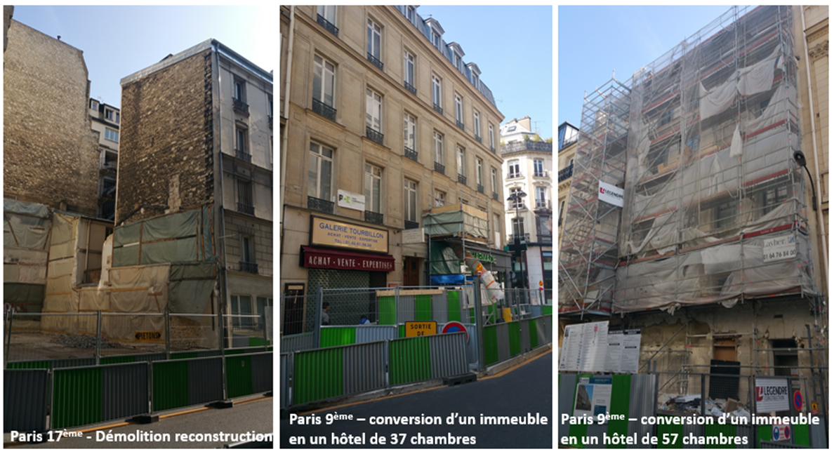 Hotels en construction à Paris