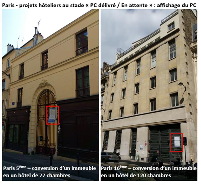 Projets hoteliers parisiens en attente