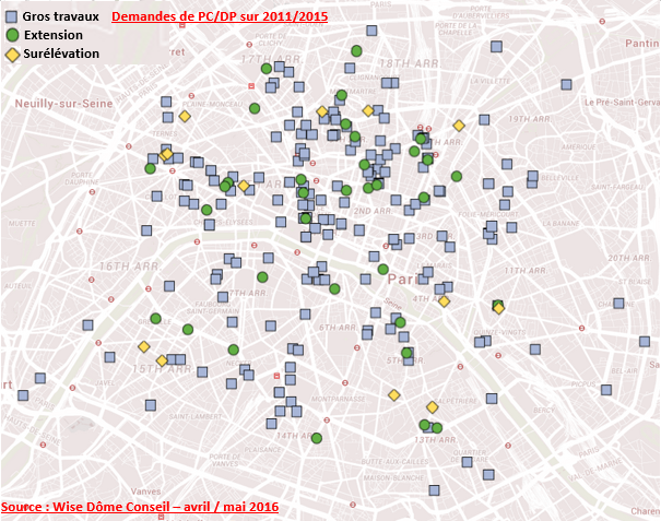 mapping gros travaux